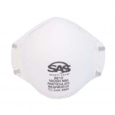 MASCARILLA RESPIRADOR DESCARTABLE SAS N95 8610 (20 UN)