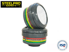 FILTRO STEELPRO V-7800 ABEK1 + PF MULTIGAS Y PARTICULAS - Steelpro
