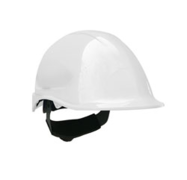 Casco steelpro ABS MTA blanco con Barbiquejo