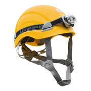 KIT CASCO YAKO STEELPRO AMARILLO + LINTERNA KL400