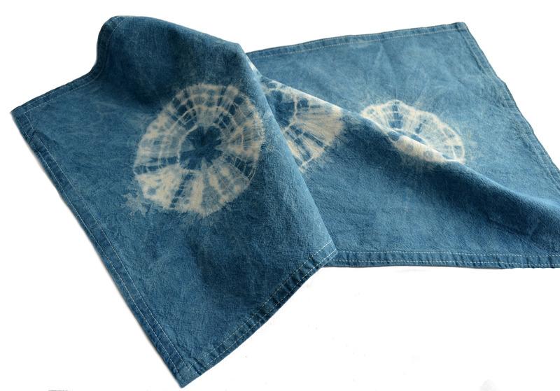 Individual o paño en algodón teñido con índigo