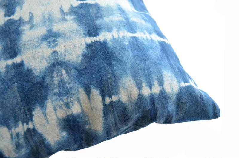 Cojín algodón teñido con índigo- Amarras