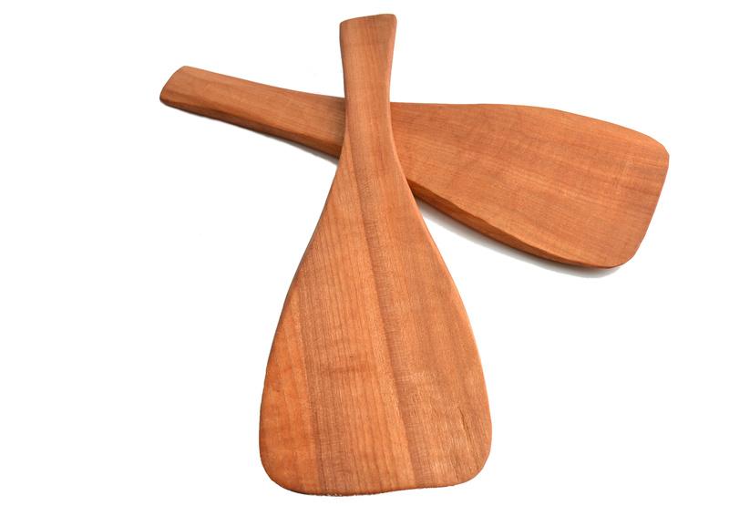 Paleta tallada en raulí