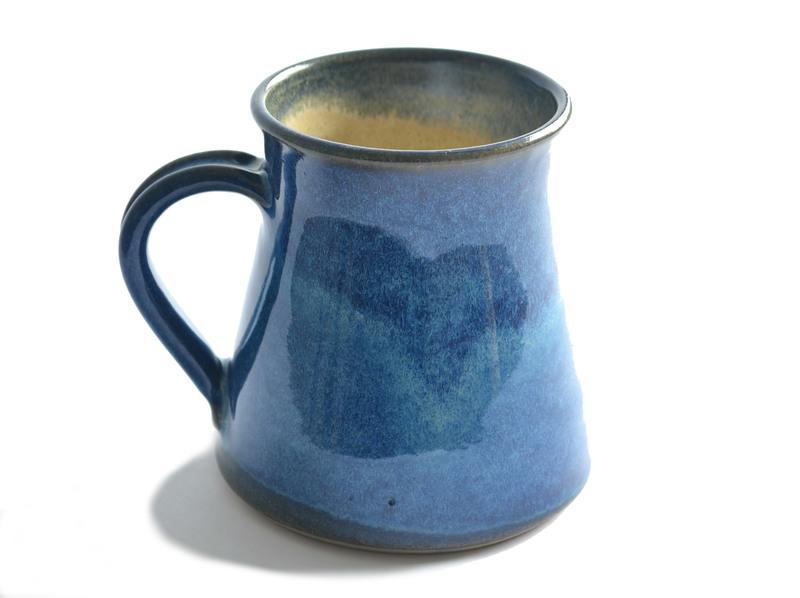 Gran tazón esmalte azul brillante