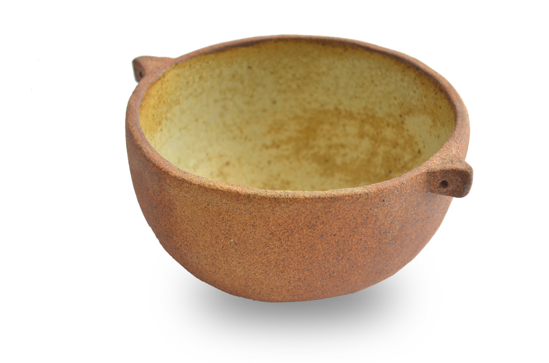 Fuente mediana orejitas gres rústico natural