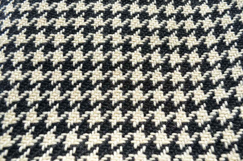 Echarpe pied de poule blanco y negro
