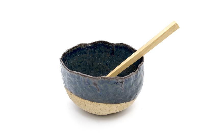 Pocillo modelado azul