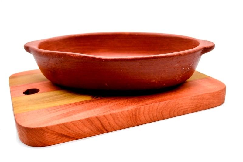 Set fuente cerámica en tabla nativa