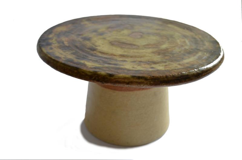 Portavelas en cerámica gres