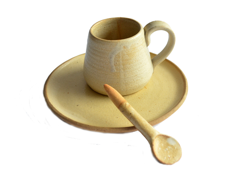 Set espresso marfil