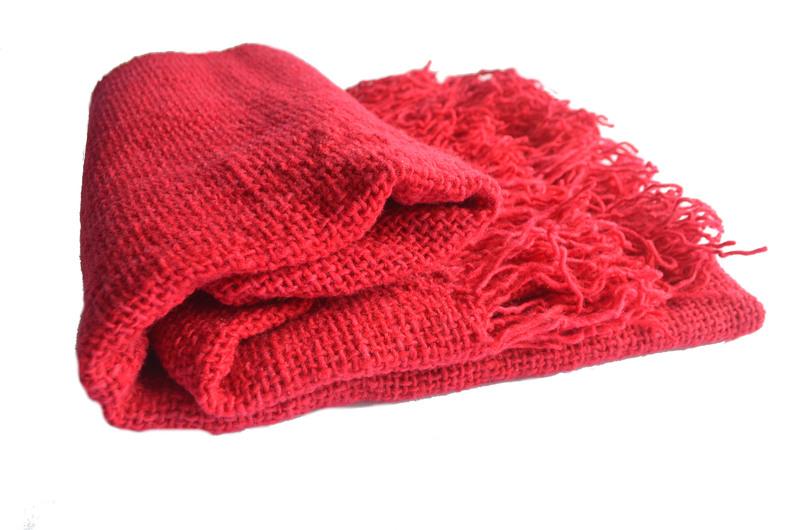 Chal lana color fucsia o rosa fuerte