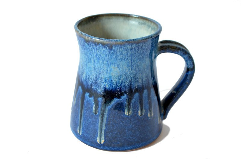 Tazón XL - Azul chorreado