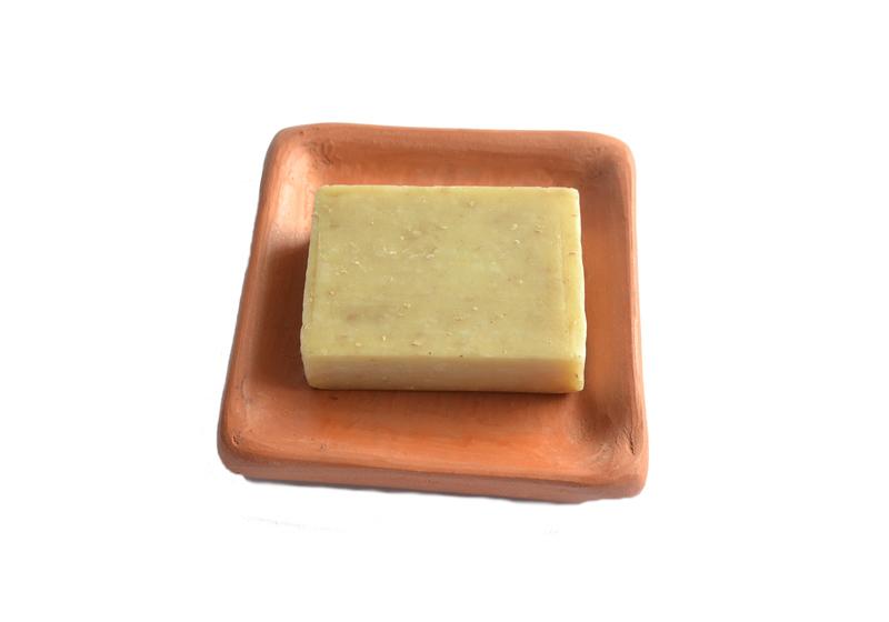 Porta jabón cuadrado en cerámica de Pañul