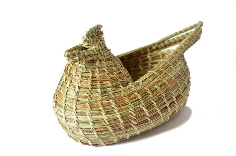 Gallina porta-huevos en fibra vegetal