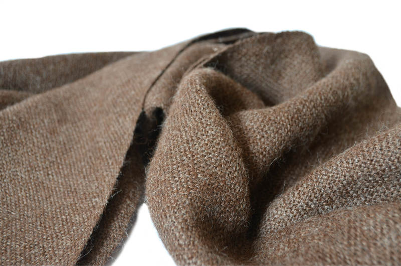 Fino echarpe en baby alpaca natural color Rocillo