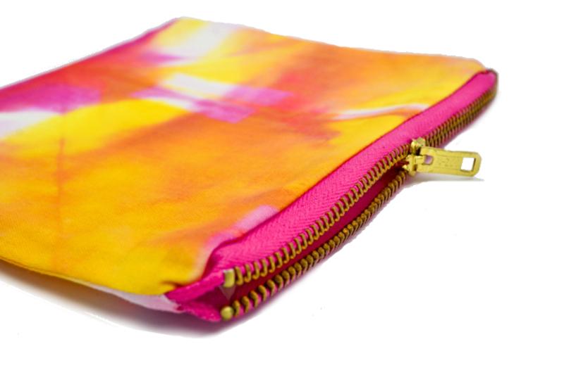 Estuche multiuso en algodón - Shibori colorido