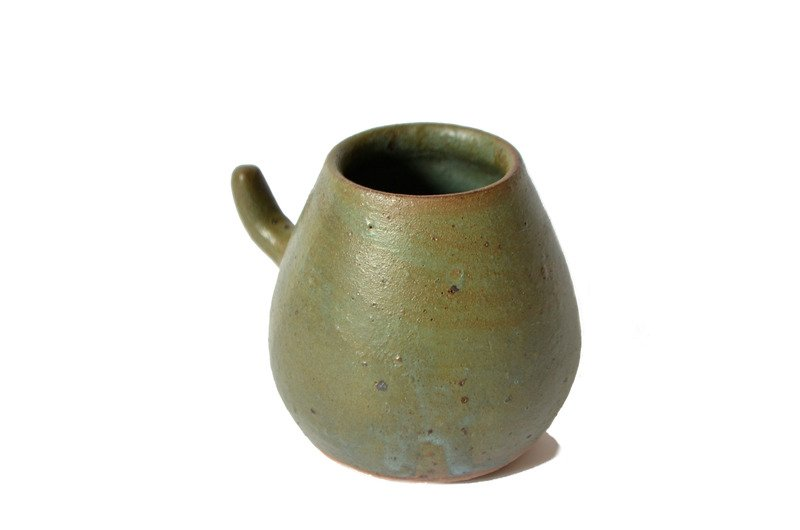 Mate en cerámica gres turquesa