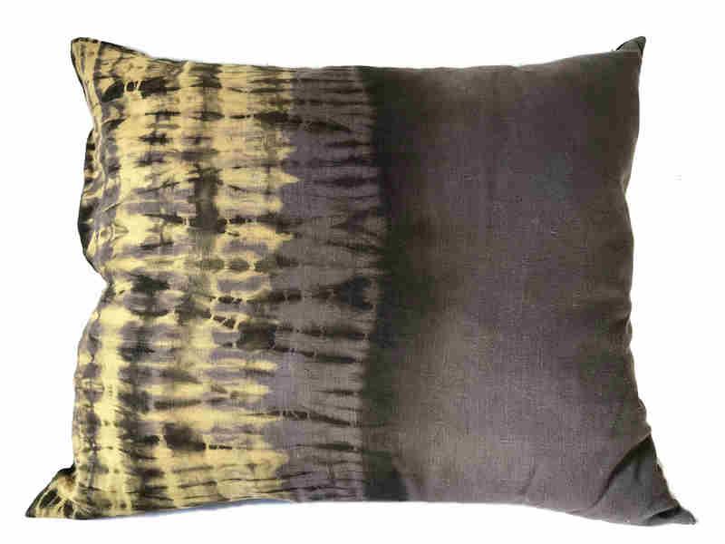 Cojín XL o de piso en lino teñido horizontal - Colección