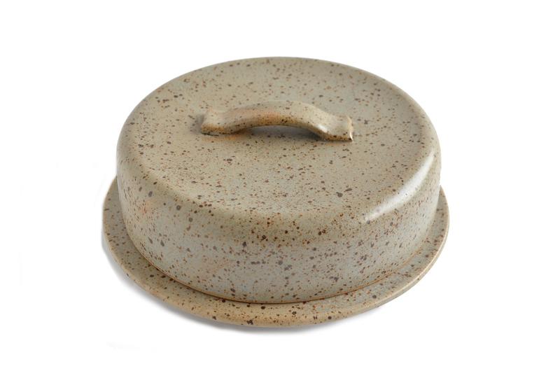 Mantequillero en cerámica gres - Gris cálido