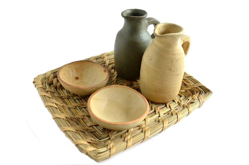 Alcuza en cerámica gres y fibra de ñocha