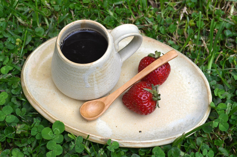 Set espresso en tonos cálidos