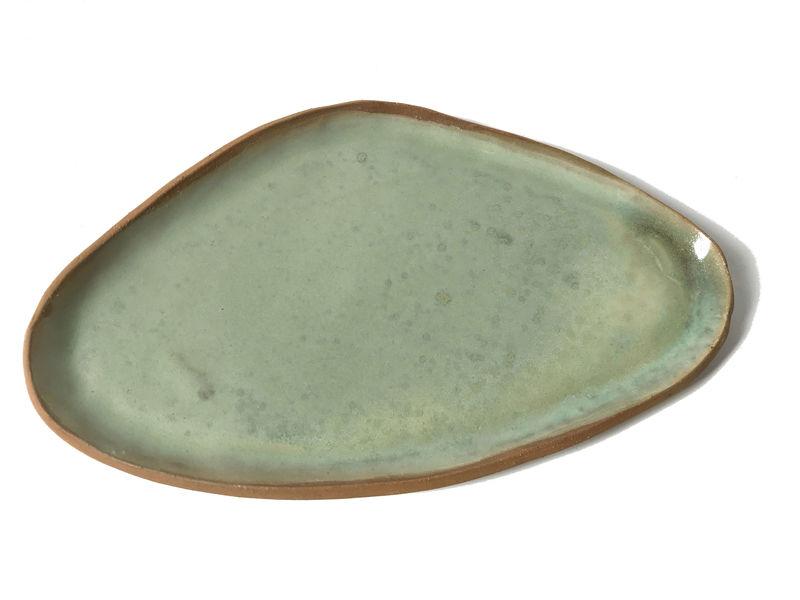 Set bandeja de gres y pocillo en color menta