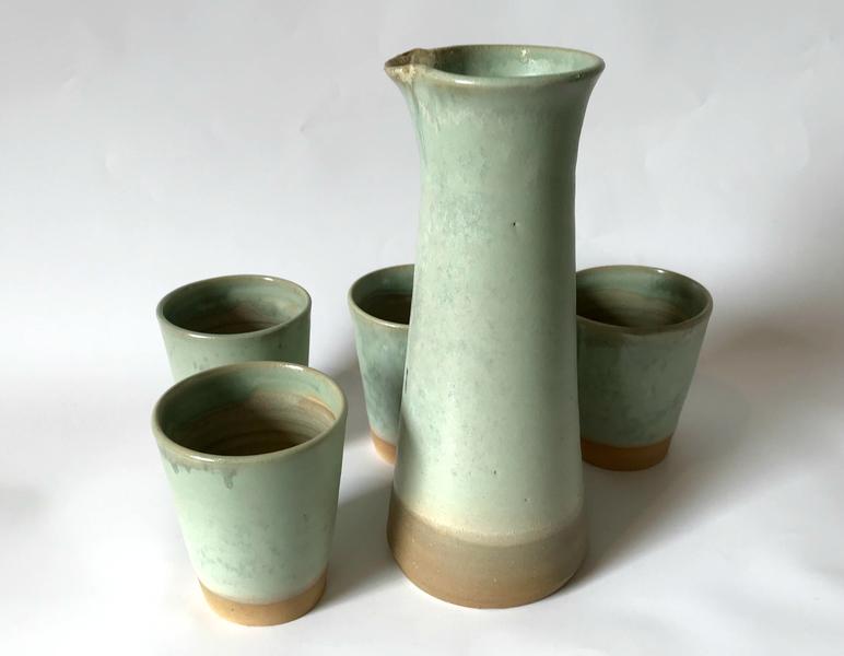 Juego pisco sour 4 vasos - Verde agua