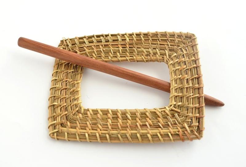 Traba o prendedor fibra vegetal - Rectangular