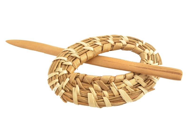 Traba o prendedor fibra vegetal - Óvalo