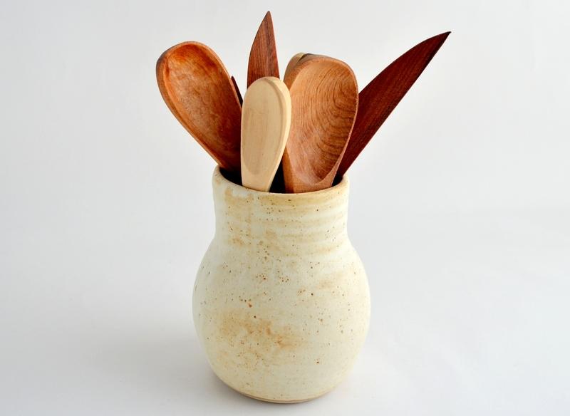 Vasija multiuso en cerámica gres beige y marfil
