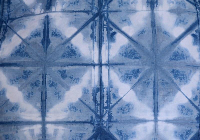 Set de 4 servilletas grandes algodón teñido a mano con índigo 100% natural