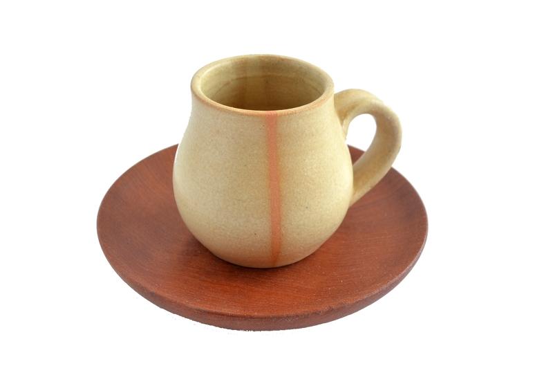 Set espresso raulí y cerámica gres en beige