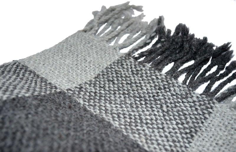 Chal - Echarpe alpaca - Cuadrados en grises