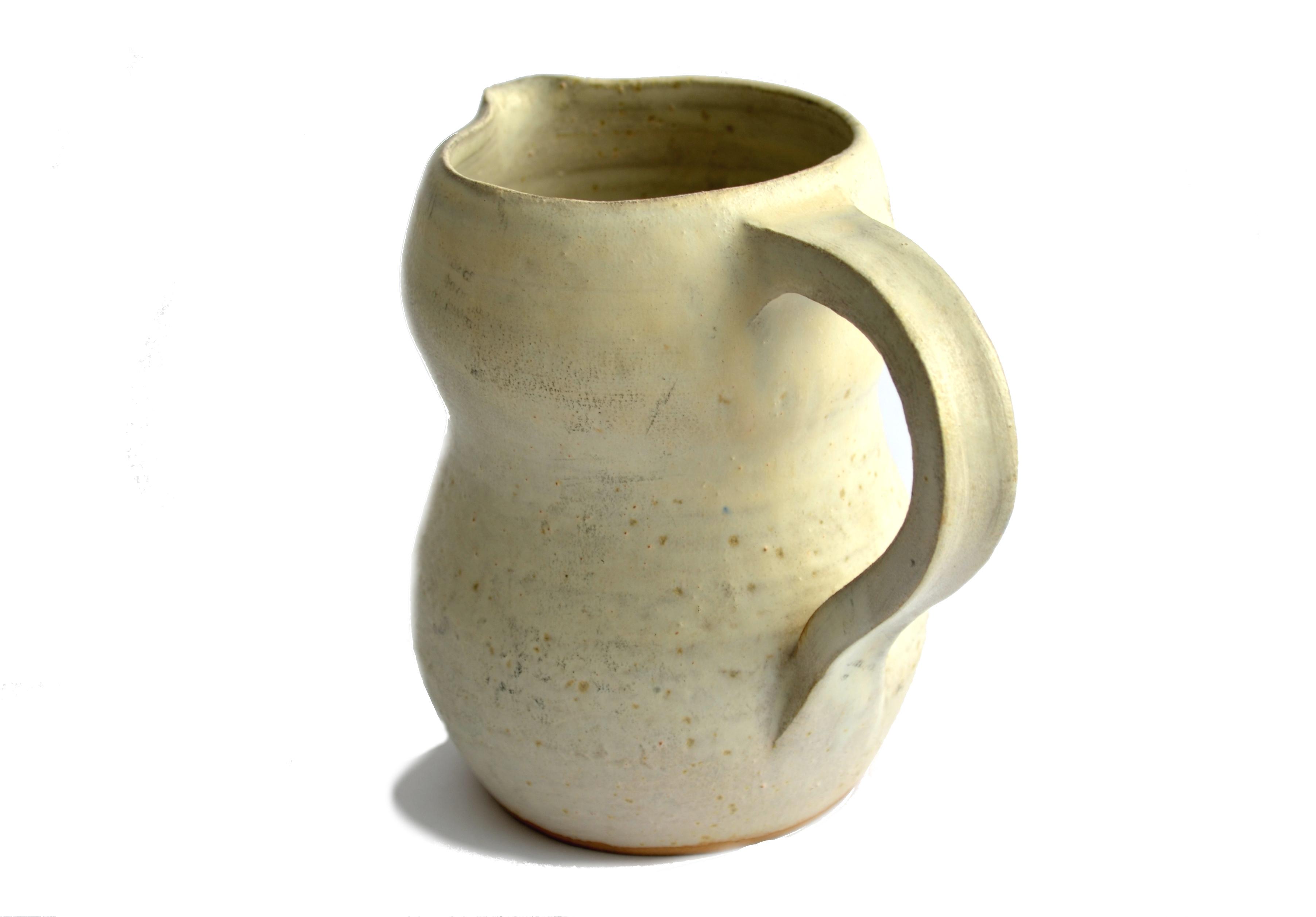 Jarra de cer mica gres color marfil jarra de cer mica gres Esmalte para ceramica