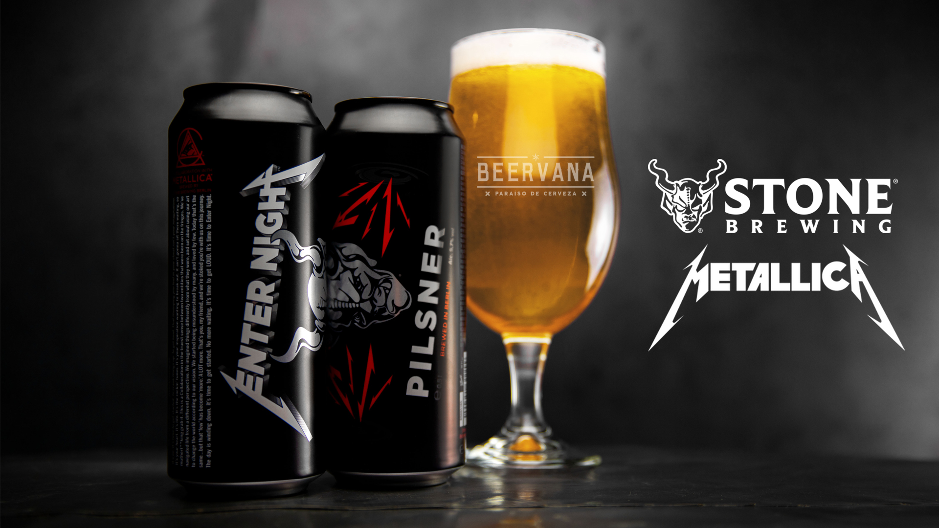 Ya llego Enter Night de Metallica y Stone Brewing