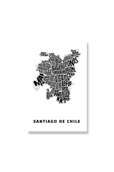 POSTAL TERRITORIOS TIPOGRÁFICOS - Santiago de Chile