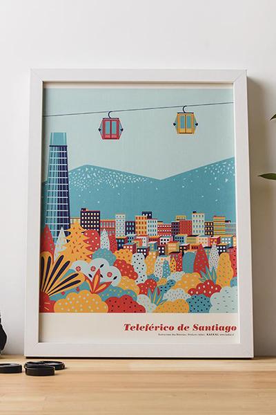 AFICHE TELEFÉRICO DE SANTIAGO