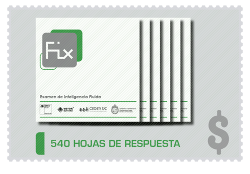 540 Hojas de Respuesta FIX