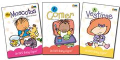 Pack A 3 DVDs (A comer, A vestirse, Mis Mascotas)