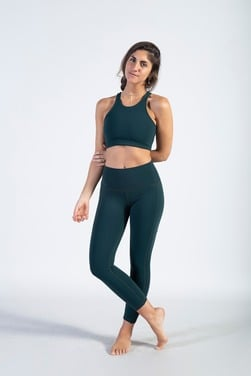 Croptop Fit Color Green Forest