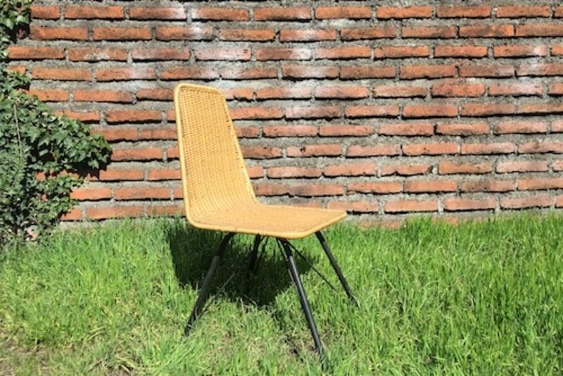 Silla de mimbre de comedor gaviota terrazachic for Sillas mimbre comedor