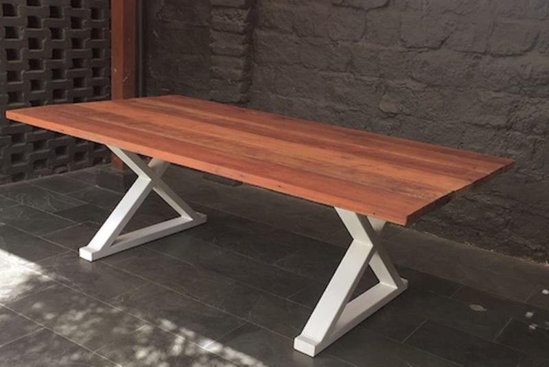 Mesa de comedor de madera de roble de demolición - TerrazaChic