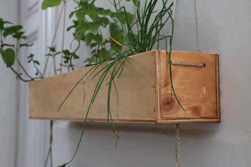 Huerta colgante de 3 cajones grandes