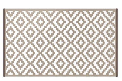Alfombra PET Nirvana beige con blanco 150 x 240 cm