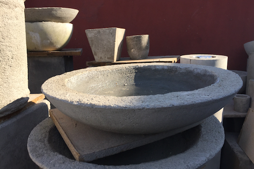 Plato de concreto de 60 cm de diámetro