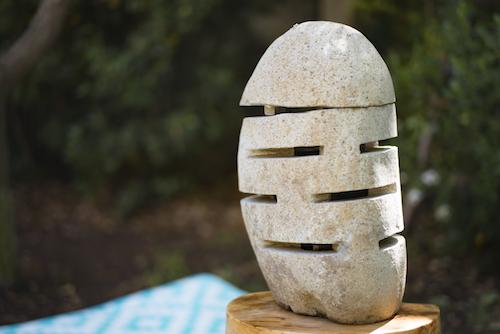 Lámparas de piedra de 40 cm de altura