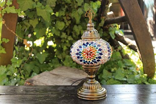 Lámpara turca de mesa recta M