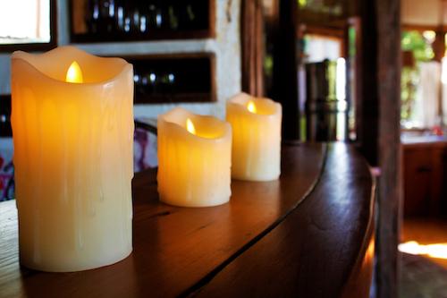 Set de 3 velas LED a pila