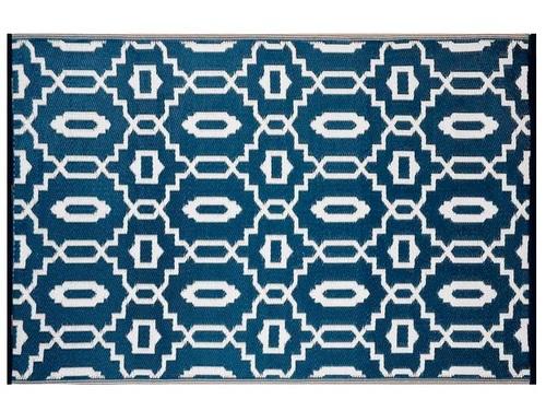 Alfombra PET moderna azul marino 150 x 240 cm