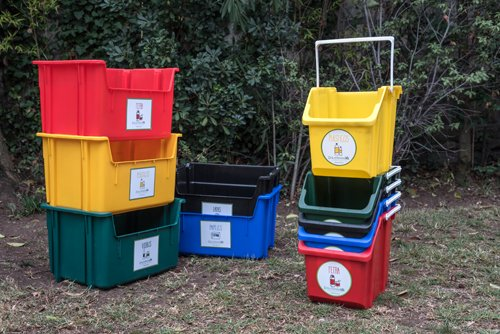 Kit de minicontenedores para reciclaje